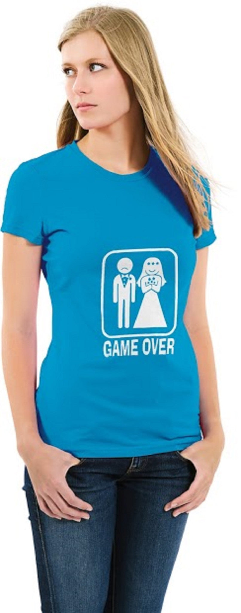 Game Over Ladies T-shirt Blue