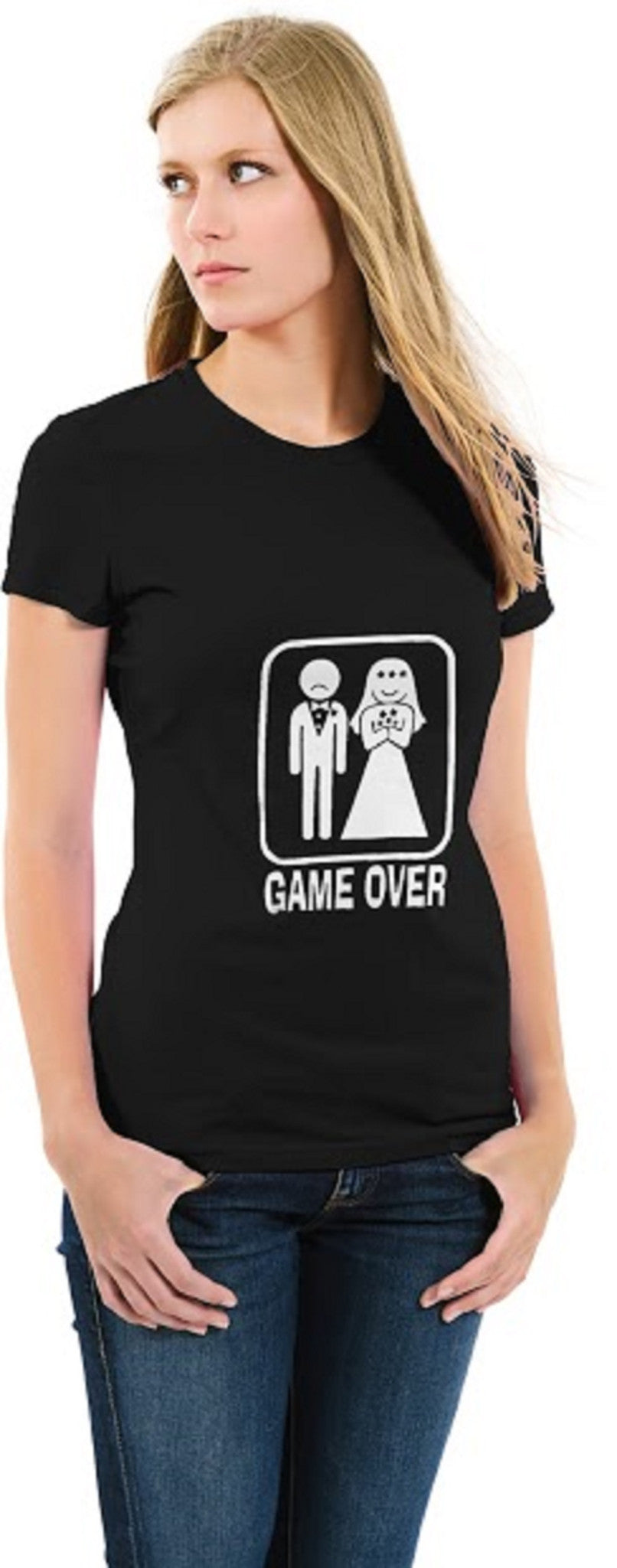 Game Over Ladies T-shirt Black