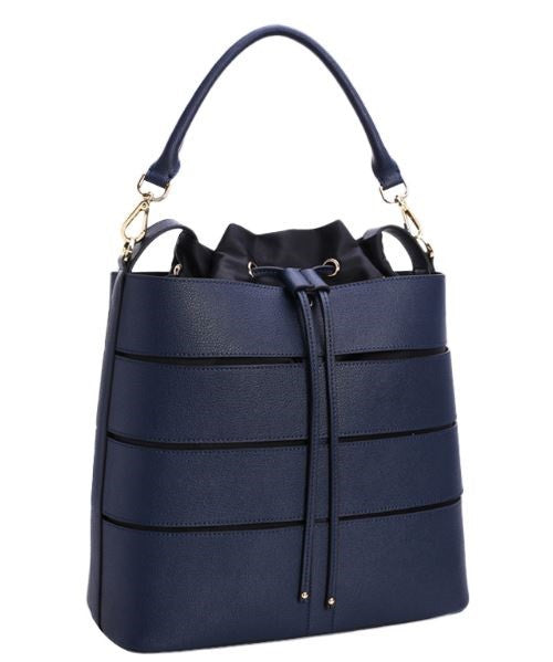 Blue Fashion Handbags Shaped as Bucket Bags