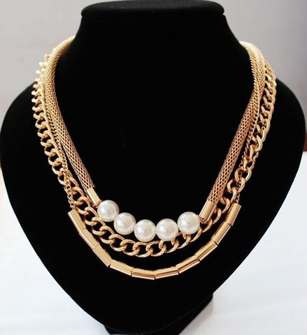 Gold Snakeskin Necklace