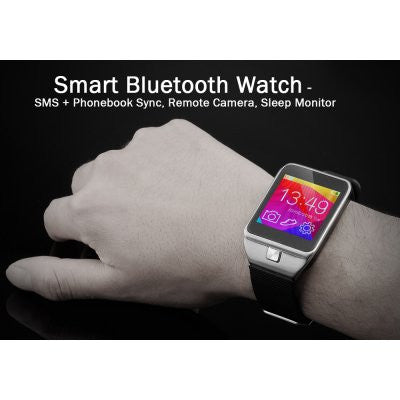 Smart Watch Bluetooth with Phonebook Sync, Camera