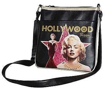 Marilyn Monroe Black Crossbody Messenger Bag