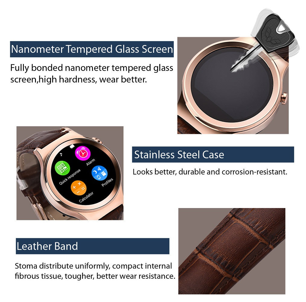 NO.1 S3 Smart Watch Phone Android + iOS App, MTK2502 Features