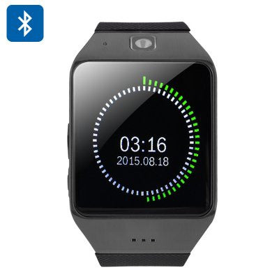 Uhappy UW1 Bluetooth Smartwatch Black