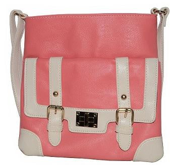 Two Tone Pink Fashion Crossbody Bag