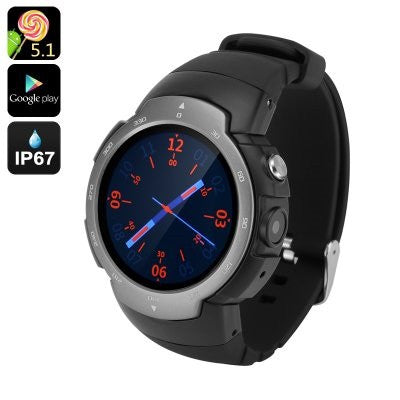 Grey Android Phone Watch Z9 with Google Play and Camera