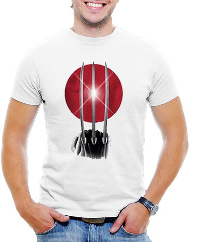Wolverine White T-Shirt with Rising Claw