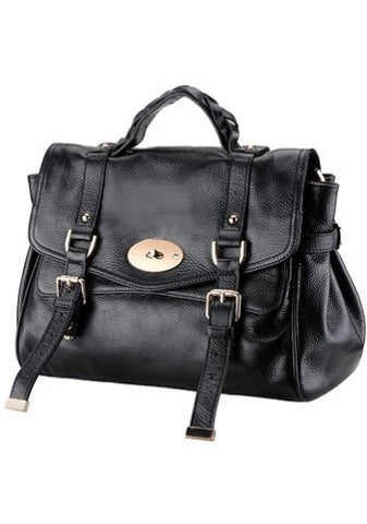 So Soho Reissue Leather Satchel Black