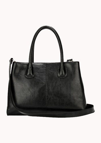 The Timeless Leather Tote Black