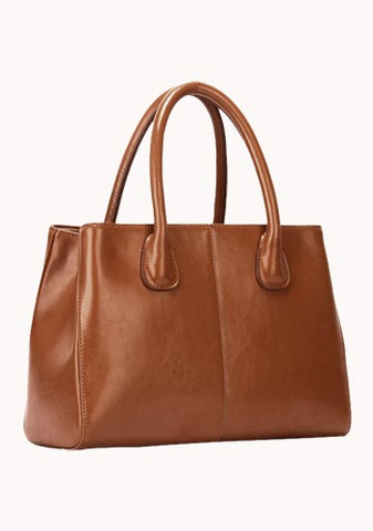 Timeless Leather Tote Brown