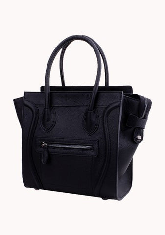 Vanessa Tote In Fluorescent Leather Black