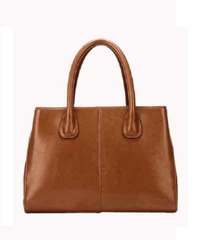 The Timeless Leather Tote Brown