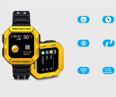 MFOX AWATCH - IP68 Heart Monitor Watch, Android 4.3 OS, Bluetooth 4.0 smart watch