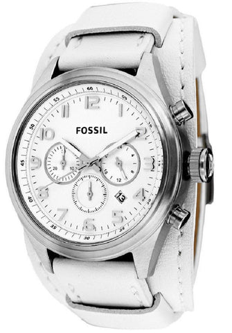 FOSSIL® BQ1035 Asher Chronograph White Leather Men's Watch