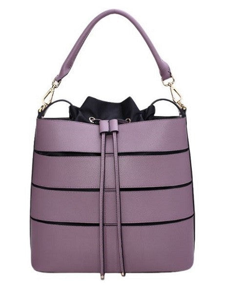 Purple Bag Stitching Design Handbag