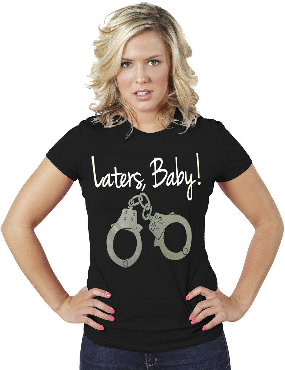 Laters Baby-50 Shades of Gray Women Black T-Shirt