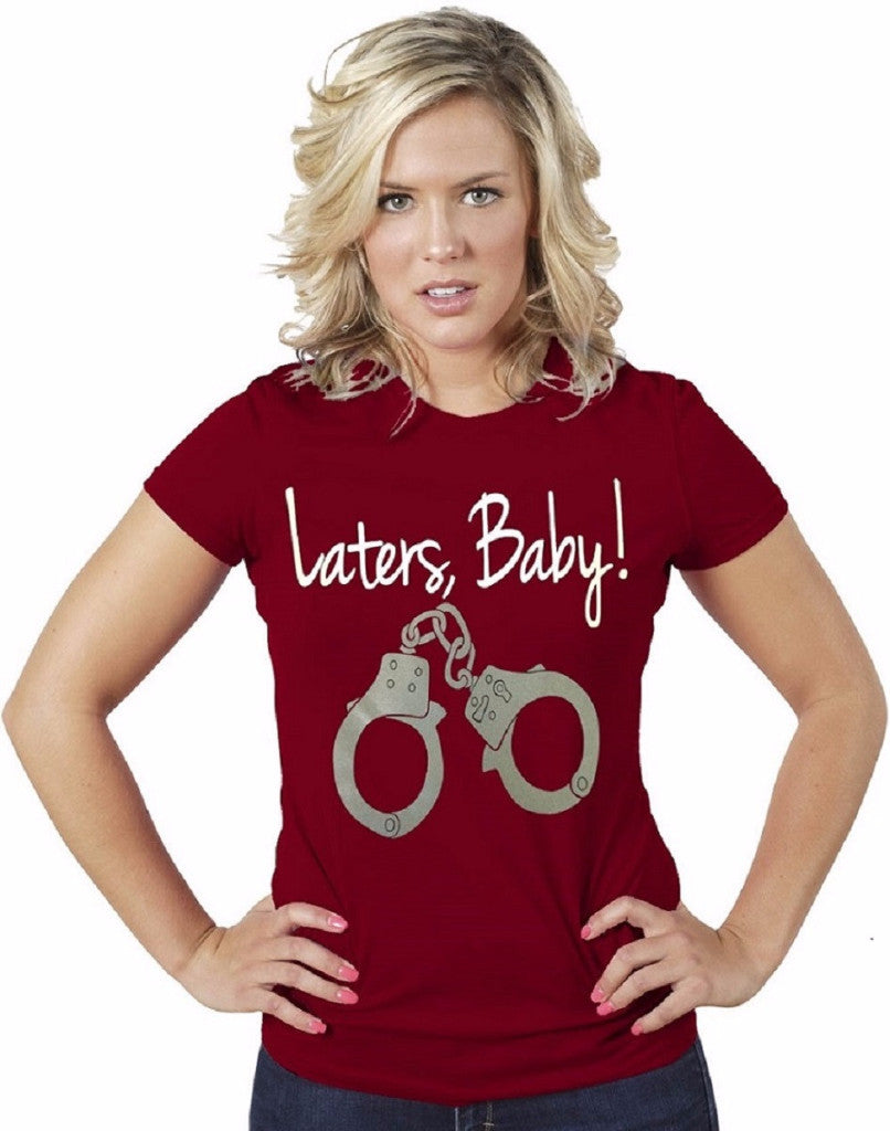 Laters Baby-50 Shades of Gray Women Red T-Shirt