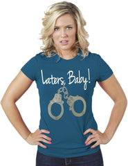 Laters Baby-50 Shades of Gray Women Blue T-Shirt