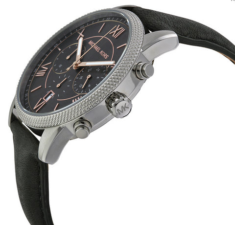 Michael Kors Men's Watch with black Leather Strap
