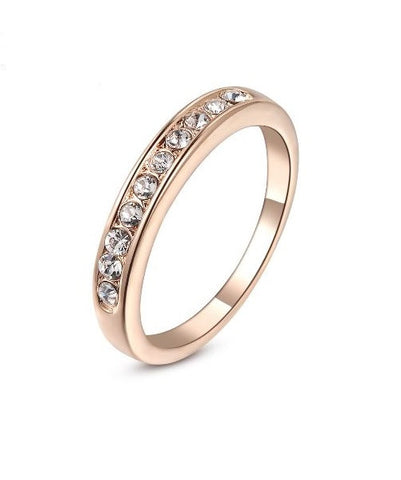 Women's gold plated ring