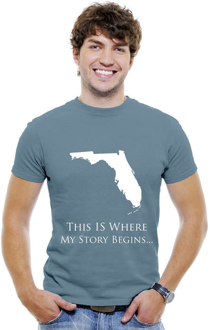 Florida Men T-Shirts...This Is Where My Story Begins