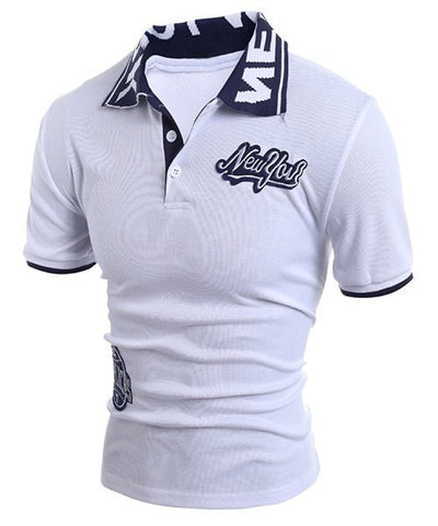 men's white polo-shirt