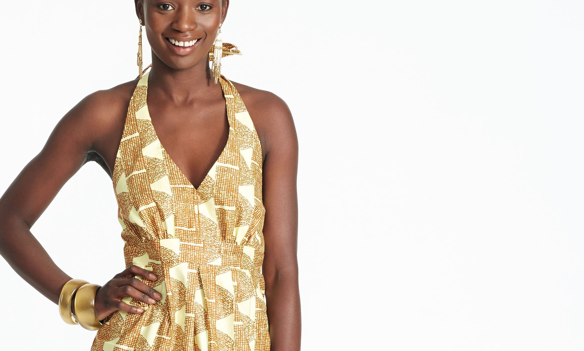 HALTER TOP IN AFRICAN WAX PRINT