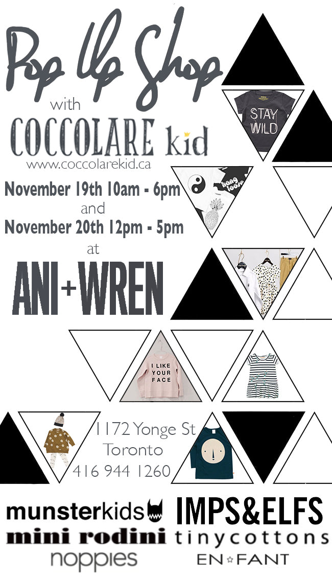 COCCOLARE KID POP UP SHOP INVITE