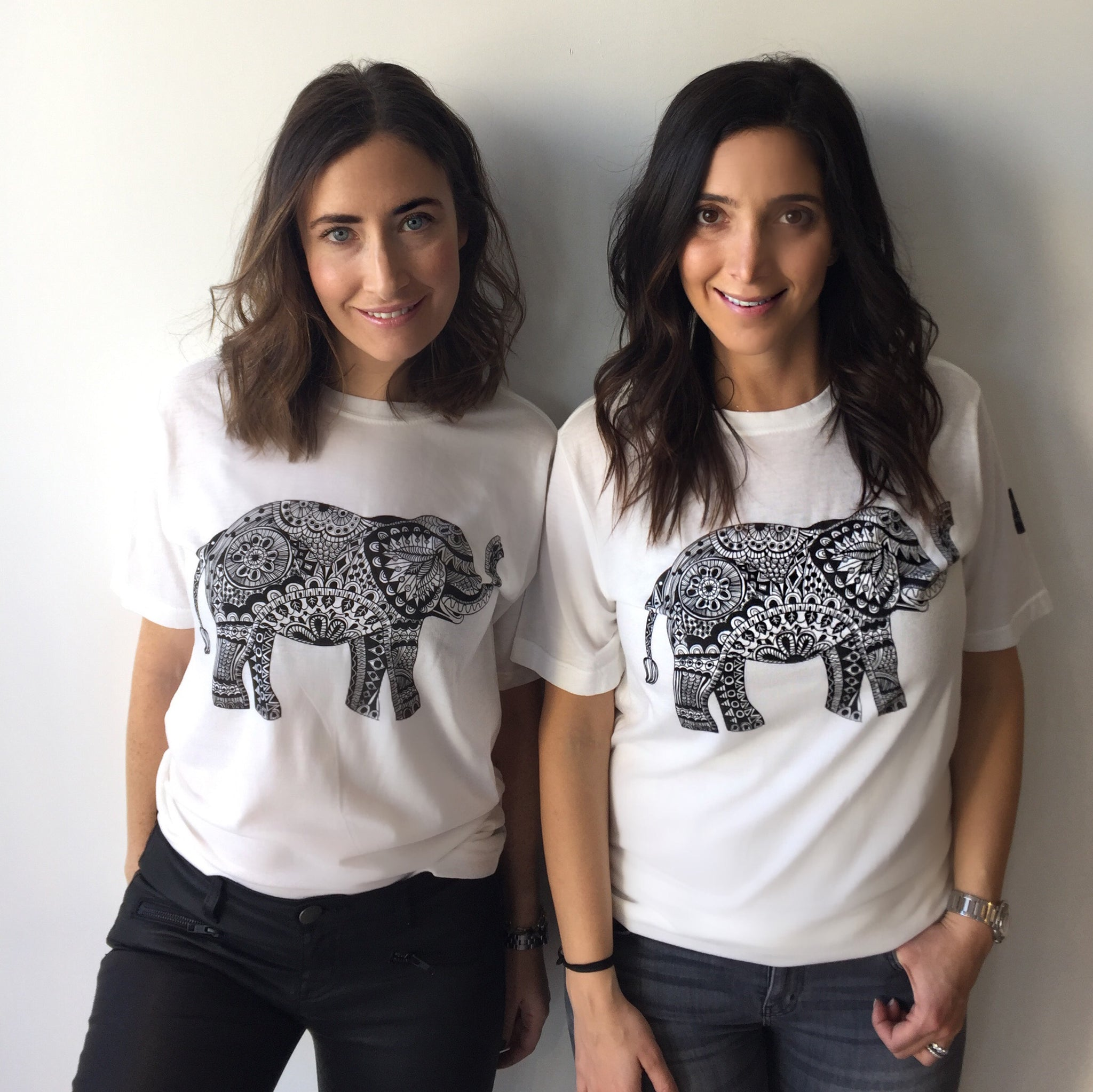 Lani and Lauren in The Dialogue Projects Tees