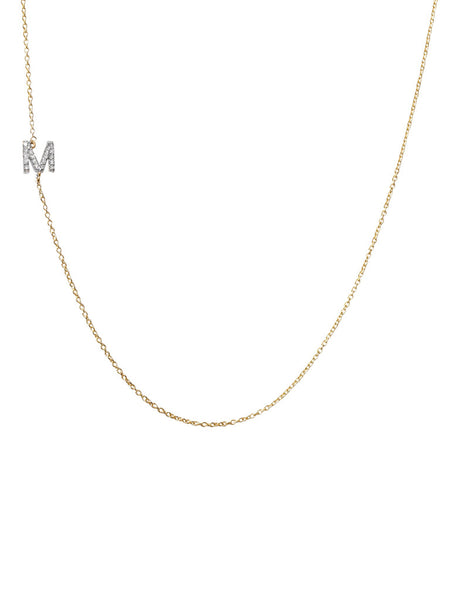 1 Diamond Initial Necklace