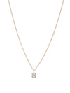 Single Hanging Diamond Initial Necklace