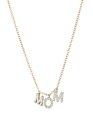 Triple Hanging Diamond Initial Necklace