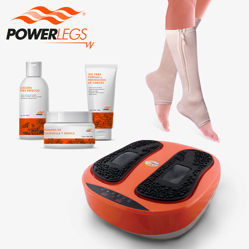 Paquete de PowerLegs + Power Zip + 3 cremas PowerLegs mini