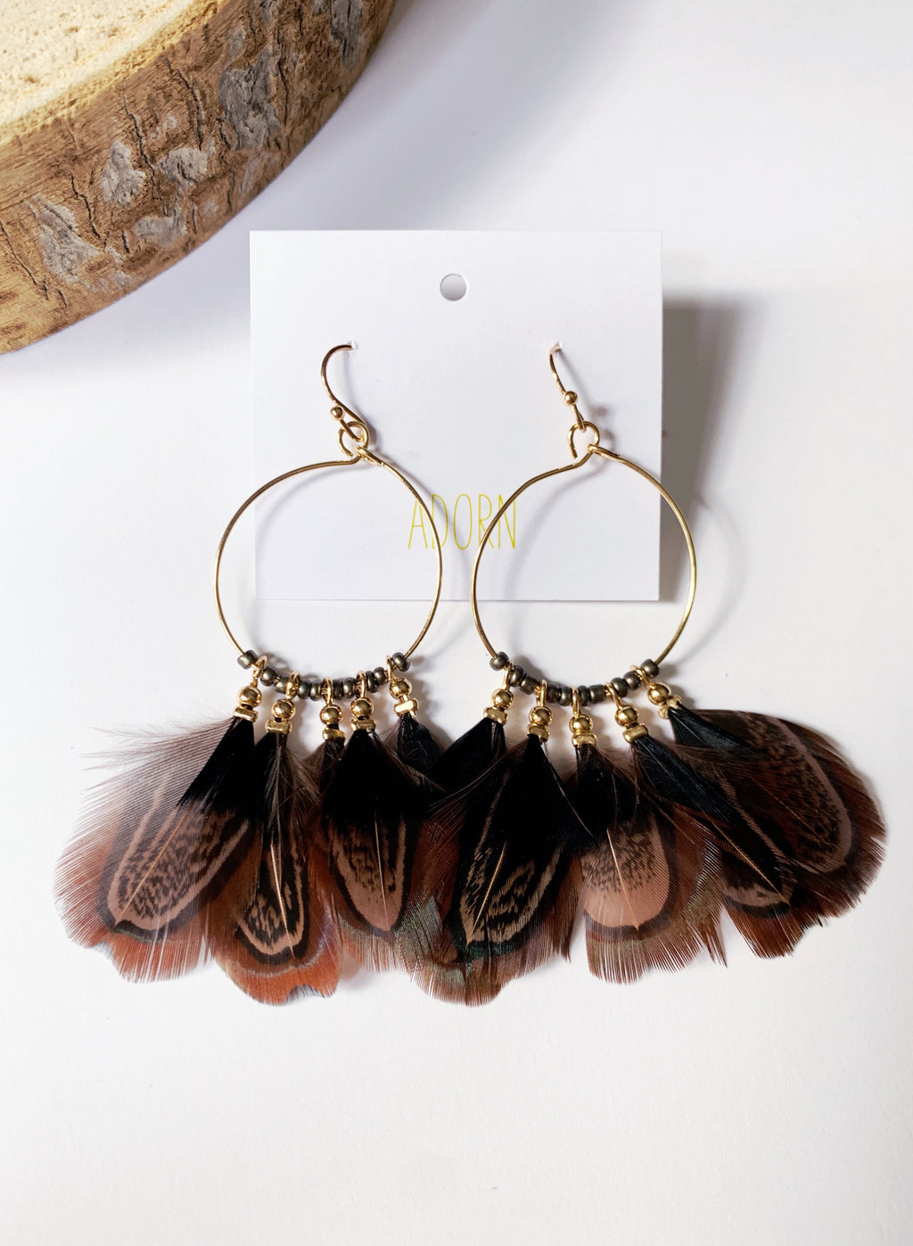 Cathy Feather Earrings Black