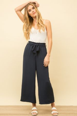 Sleek and Chic Navy Pants