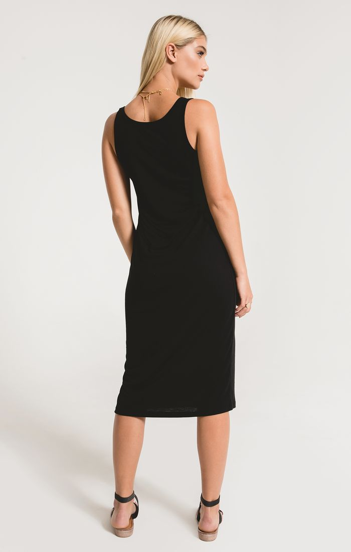 The Meridian Dress Washed Black