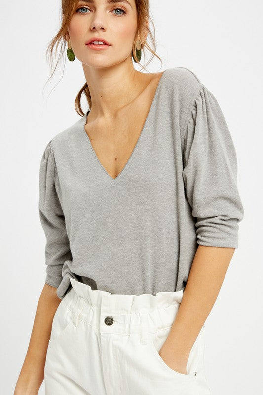 The Perfect V-neck Grey