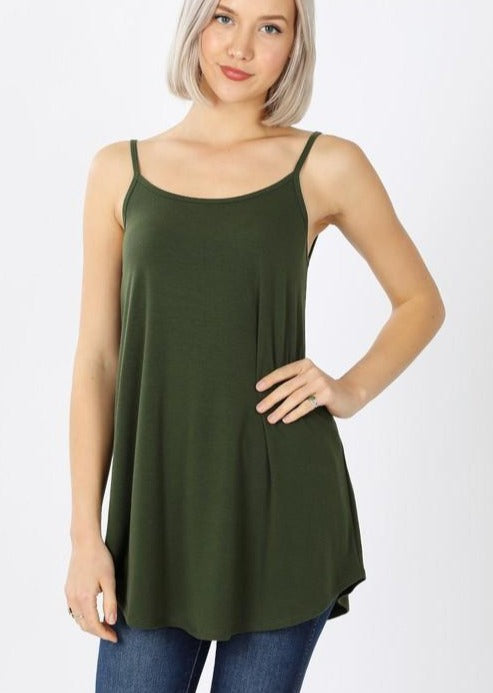 Tank Time Army Green Cami