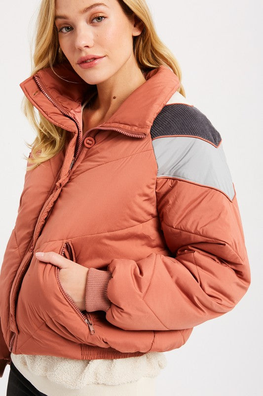 Cozy Quilted Down Jacket