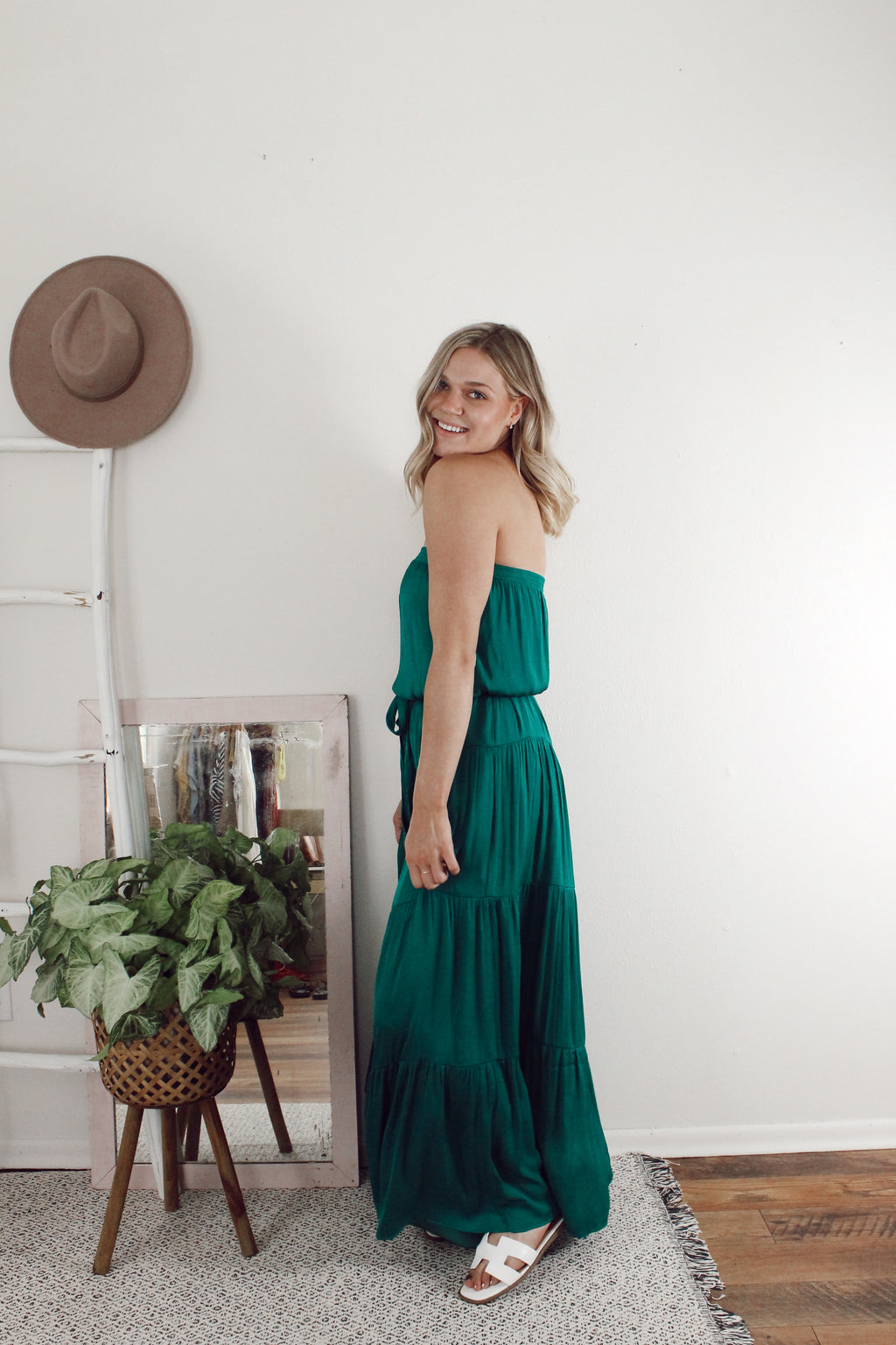 Emerald Beauty Tiered Dress