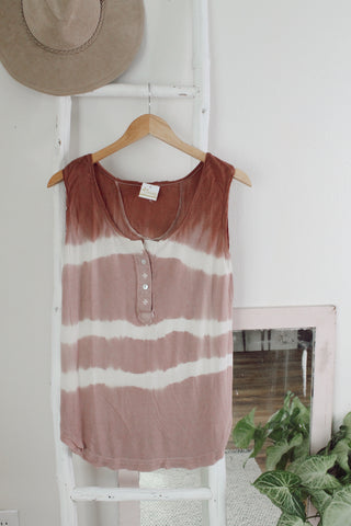 Laid Back Button Tank - Ivory
