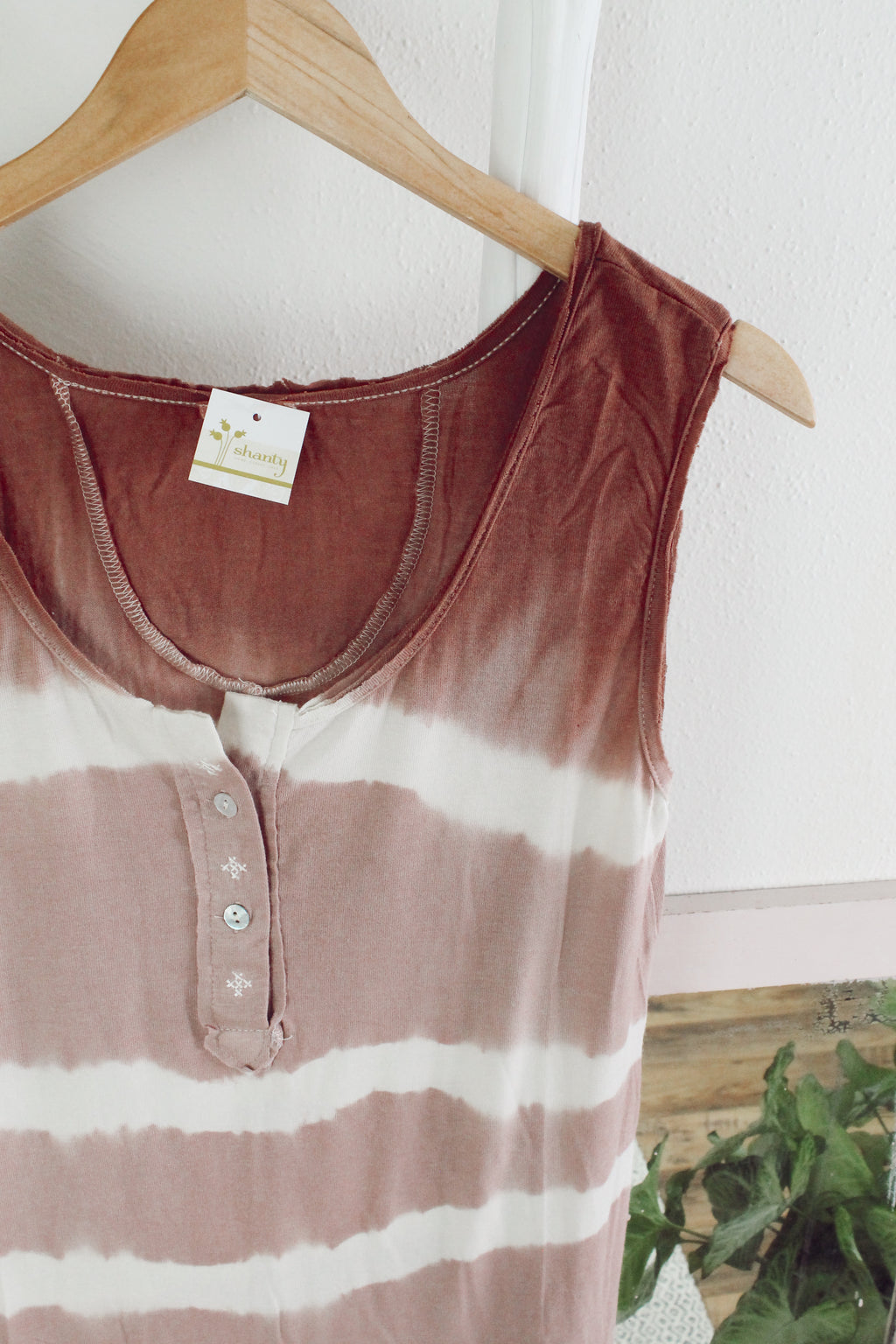 Gone with the Stripe Knit Tank - Strawberry