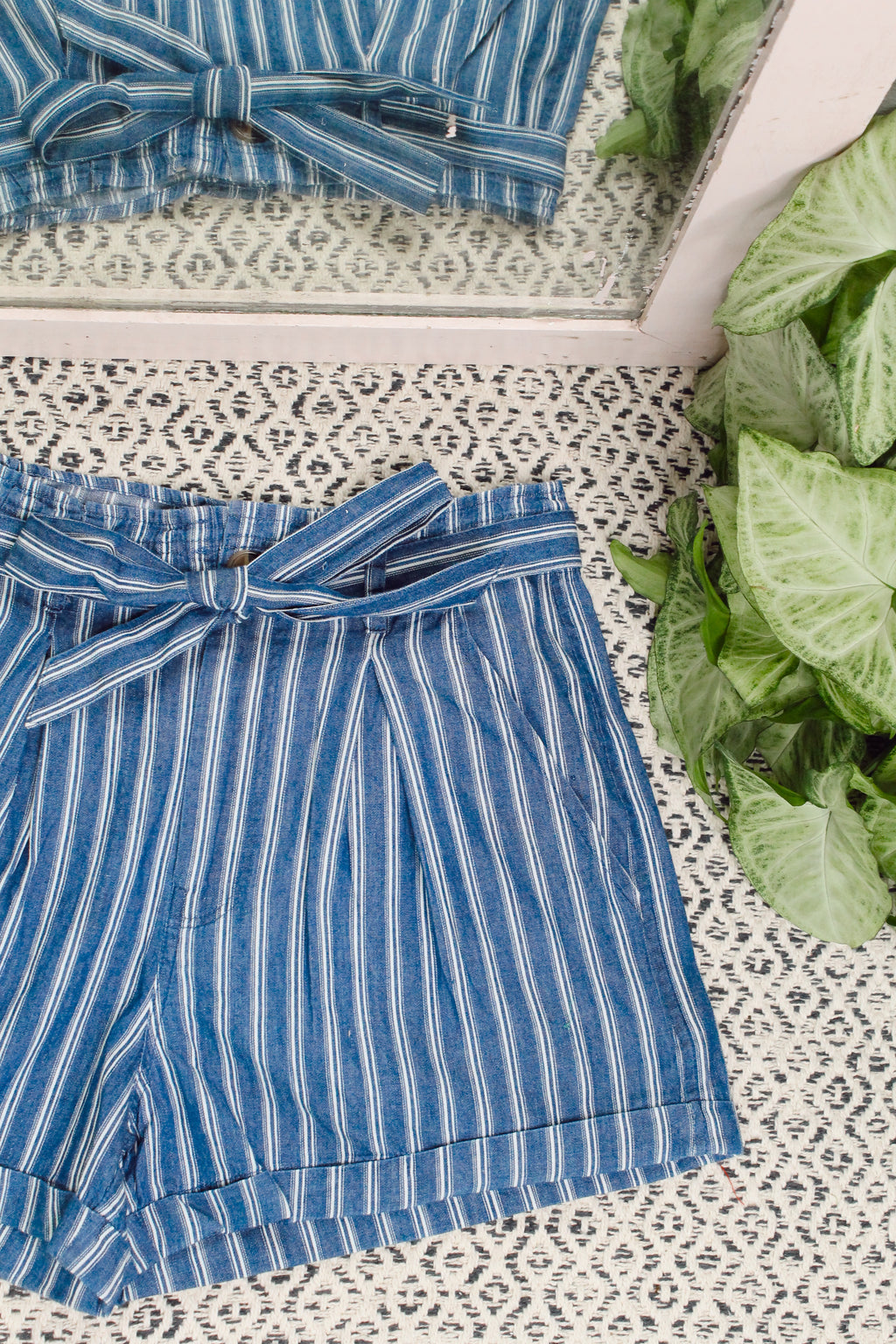Stripe Time High Waist Shorts