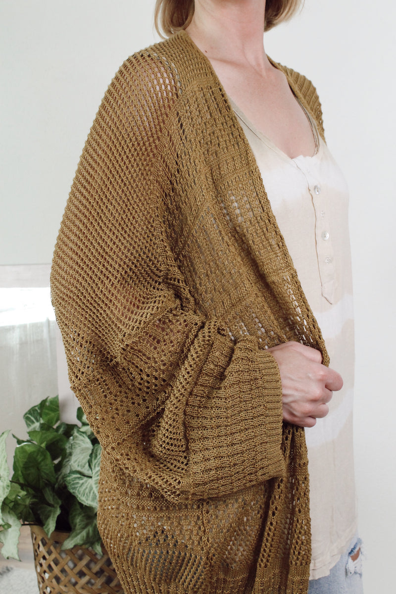 Knit Nettled Cardigan One Size Fits Most