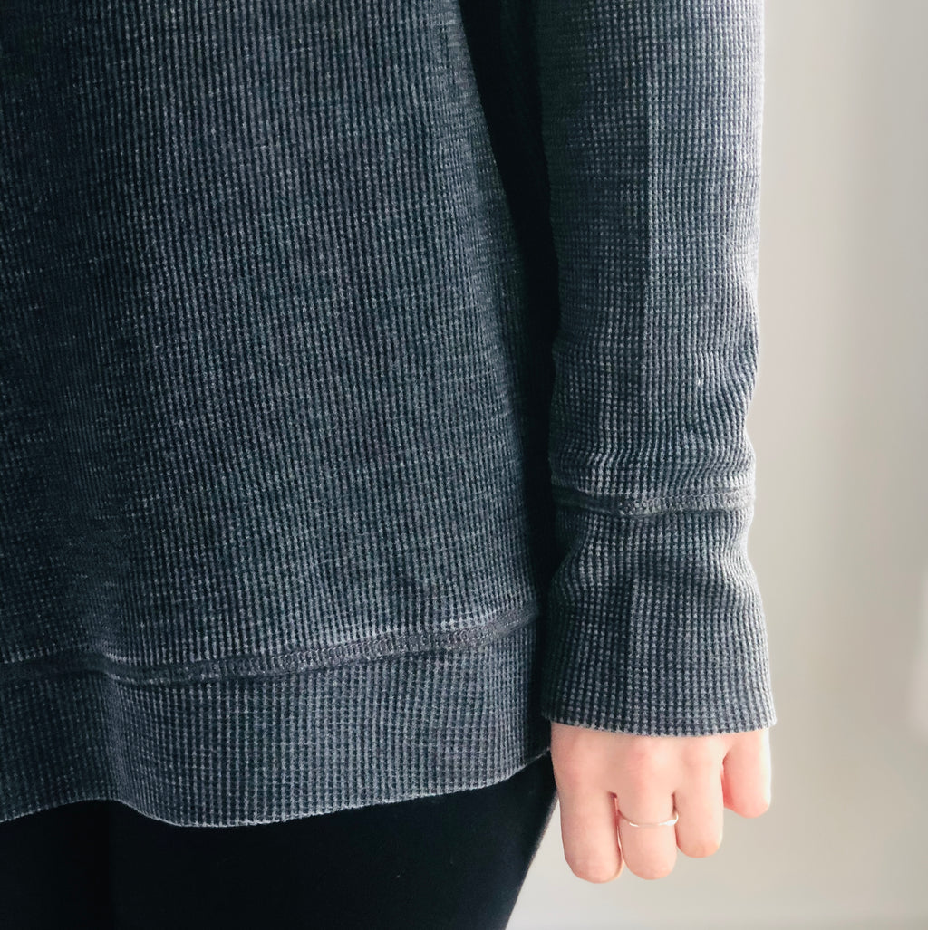 Cozy Vibes Slouchy Pullover Black