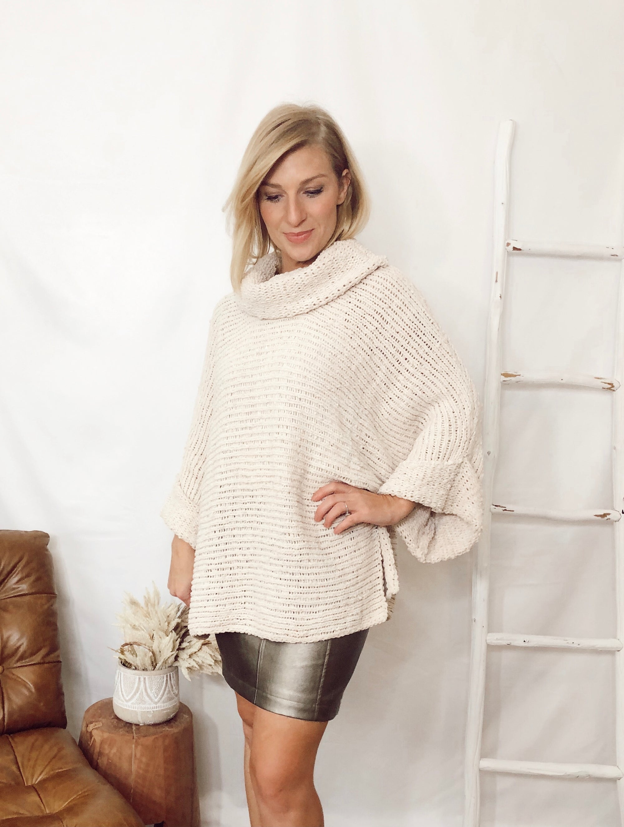 Elise Loose Cowlneck Sweater