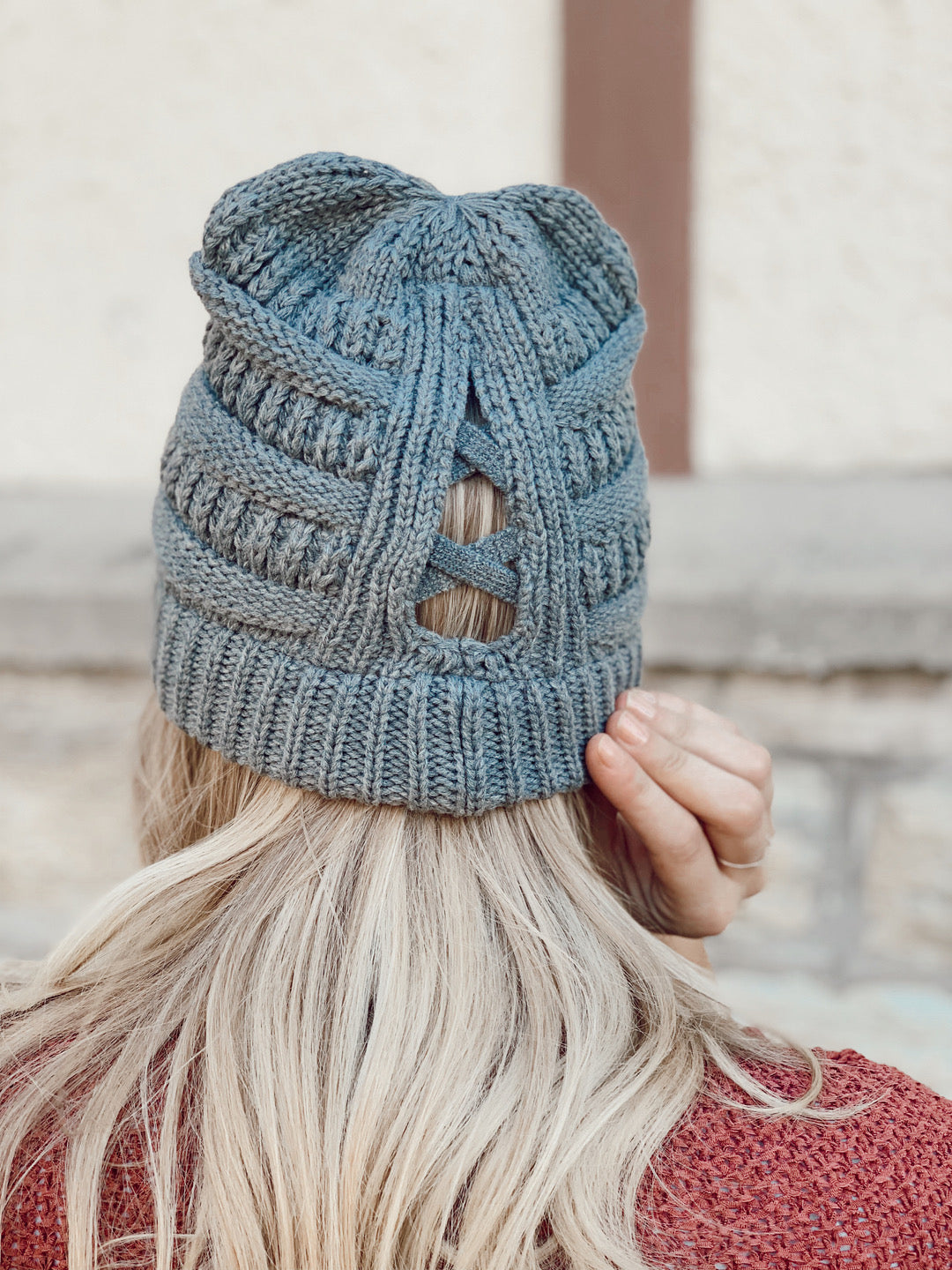CC Beanie Criss Cross Knit