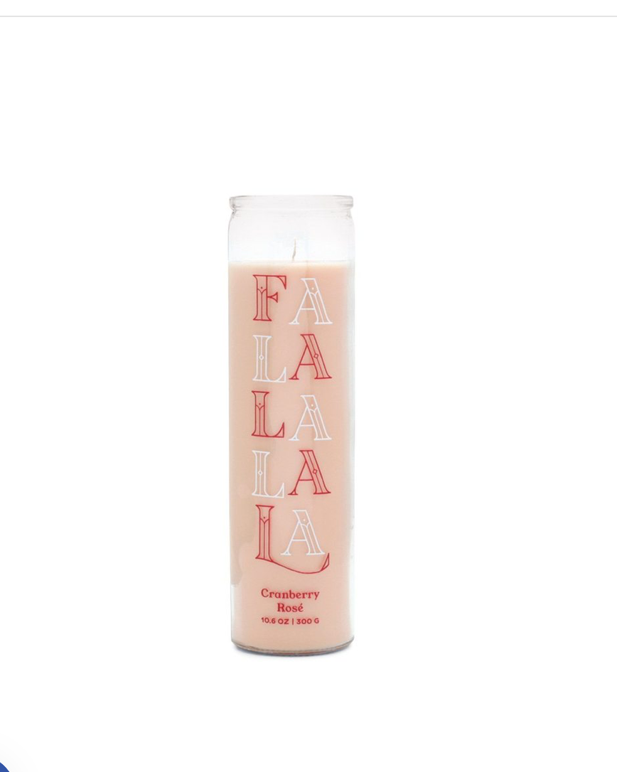 FaLaLaLaLa  Cranberry Rose Candle