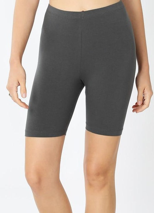 Run Run Biker Shorts Ash Grey