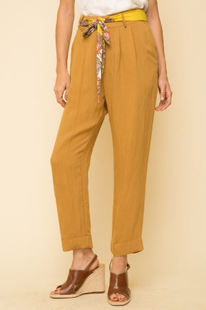 Muster Up Tie Waist Pants